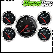 """Autometer 5 Gauge 3-3/8"""" & 2-1/16"""" Speedo GPS/Water Temp/Oil Press/Fuel/Volt"""