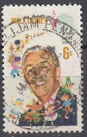 USA Briefmarke gestempelt 6c Walt Disney Rundstempel / 1278