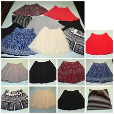 Jr Girls Flirty Skirt LOT Size 0/2 XS 9 Piece Abercrombie Aeropostale Am Eagle