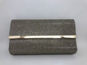 """Bare Minerals NEW Cosmetic Bag Clutch Metallic Gold """"Chandlelight Glow"""""""