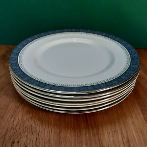 7 Royal Doulton Dinner Plates in the Sherbrooke Pattern - H5009 - 1st