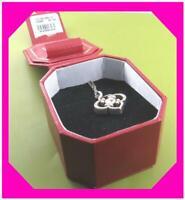 "BRIGHTON TOLEDO Crystal Silver SMALL 3/4"" Pendant NECKLACE Nwtag BOX"