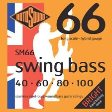 Set of Rotosound Swing Bass Hybrid Gauge  SM66 Bass Strings (40-100)