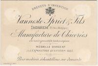 1880s Belgian Chicory Maker - Belgium Trade Card