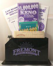 Fremont Hotel Casino Las Vegas Vintage Keno Set Rack Display Rare