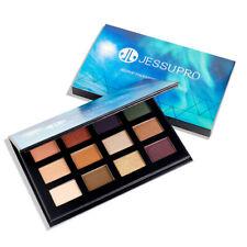 US Jessup 12Colors Eyeshadow Palette Matte Shimmer Smokey Makeup Nude Eye Shadow