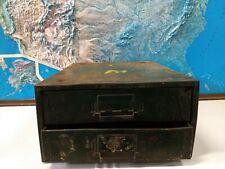 Vintage Industrial Green Metal Parts Bin Drawer