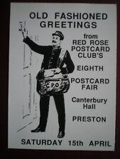 POSTCARD LANCASHIRE RED ROSE 8TH POSTCARD FAIR