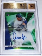 2017 TOPPS FINEST AARON JUDGE AUTO/GREEN REFRACTOR ROOKIE #d/99 BGS 9.5 GEM-MINT