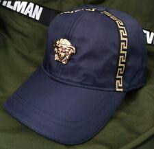 New Versace Baseball Cap Dark Blue Hat With Adjustable Buckle