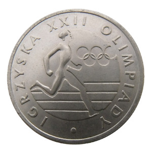 POLAND  y108 20 Zlotych (1980) OLYMPIC RUNNER - MOSCOW OLYMPIC AU to UNC