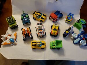 Transformers Rescue Bots Lot Of 14  Optimus Prime & Bumblebee
