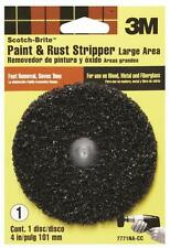 "NEW 3M 7771 SCOTCH BRITE DRILL MOUNT 4"" PAINT & RUST STRIPPER BRUSH 6894489"