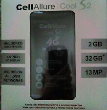 CELLALLURE Cool S 2 Factory Unlocked GSM Phone - Black (U.S. Warranty)