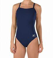 Speedo Womens Swimwear Navy Blue Size 12 /38 Endurance Flyback Swimsuit $69 055