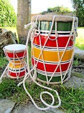 More details for fair trade hand made dholak dholki damaru damru drum percussion instrument