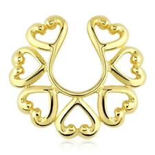 Nipple Piercing Gold Classic Hearts Brass Gold Plated From 14 Carat Gold