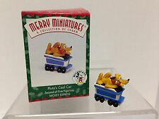 Hallmark 1998 Merry Miniatures Disney Mickey Express #2 Pluto's Coal Car Train
