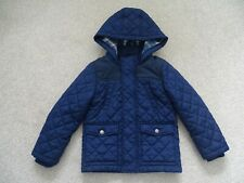 Boy's Navy Blue Hooded, Quilted Coat from Marks and Spencer Age 4-5 Years