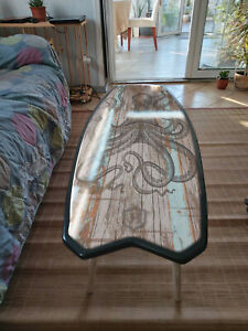 Surfboard Table,Octopus, Surfing gift, Art Decor New