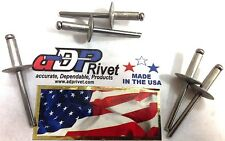 "Pop rivets aluminum rivet/steel nail 3/16sizeX3/8""grip Big head BUY 250 rivets"