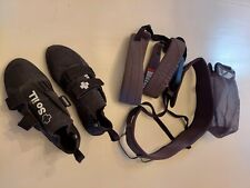So Ill climbing harness (Large) and shoes (size 12) only used 3 times.
