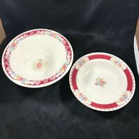 Pair of Vintage Homer Laughlin Brittany Majestic Bowls