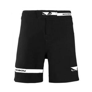 Bad Boy MMA OSS Grappling Shorts Black Training Fight Gym Martial Arts Clothing