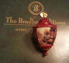 Thomas Kinkade Bradford Editions Heirloom Ornament Lite Cover Cobblestone Lane