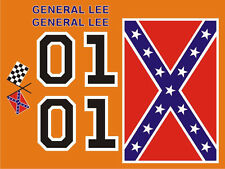 General Lee Vinyl Decals & Stripes Kit Fits 1968 1969 1970 Dodge Charger  Decal