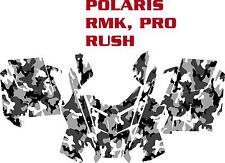 SNOWMOBILE WRAP POLARIS RUSH, PRO, RMK  DECAL 12-15 SNOW CAMO BASIC