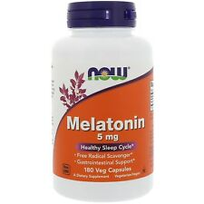 Now Foods Melatonin 5mg 180 vegane Kapseln Blitzversand