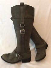 Fat Face Green Knee High Leather Boots Size 38