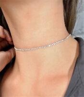 HOT Women Zircon Charm Collar Choker Necklace Pendant Rhinestone Chain Jewelry