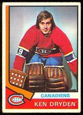 1974 75 OPC O PEE CHEE #155 KEN DRYDEN VG-EX MONTREAL CANADIENS HOCKEY CARD