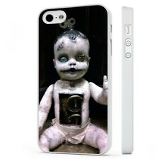 Creepy Baby Doll Horror WHITE PHONE CASE COVER fits iPHONE