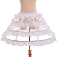 Vintage Victorian Chiffon Falbala Crinoline Slip Hoop Slip Wedding Underskirt
