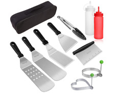 Blackstone Grill Accessories Kit, 10-Pcs Griddle Barbecue Tools Set, Bbq Outdoor
