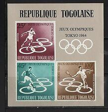 WORLDWIDE  OLYMPICS  1964  TOGOLAISE   SOUVENIR LIST, LOT  # 18 B