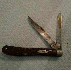 Vintage 1940-1964 Red Bone 2 bladed Case pocket knife