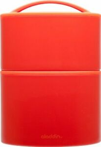 Aladdin Insulated Tiffin Lunch Set, 20oz /12oz, Screw Top Containers Tomato NWT