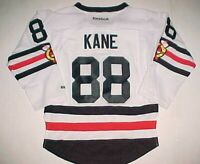 Patrick Kane #88 Chicago Blackhawks NHL Boys Black White Red Hockey Jersey S/M