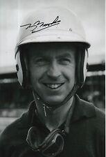 Tony Brooks Hand Signed 12x8 Photo Vanwall, Ferrari F1.