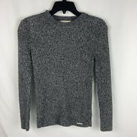 Womens Black & White Long Sleeve Micheal Kors Shirt Size Medium Sweater