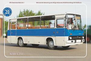 "Blechschild 20x30cm ""Oldtimer-Busse im Osten - Ikarus 211"" Nr. 20"