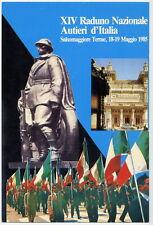 ESERCITO Raduno SALSOMAGGIORE 1985   AUTIERI d'Italia con ANNULLO LEGGI