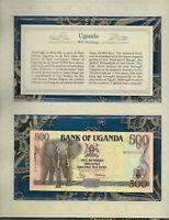 *Most Treasured Banknotes Uganda 1991 500 Shillings UNC P-33a Prefix BP