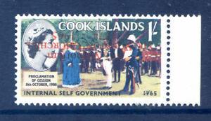 Cook Islands 1966 Churchill 1sh Overprint Inverted mint n.h. (2020/10/27#02)