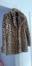 Bnwot Mango Faux Leopard Fur Coat Size Small