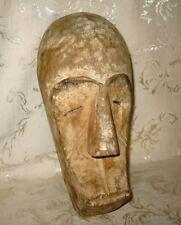 "Antique Fang Mask, Gabon, West Africa, Carved Wood with Naturel Pigments 12"""